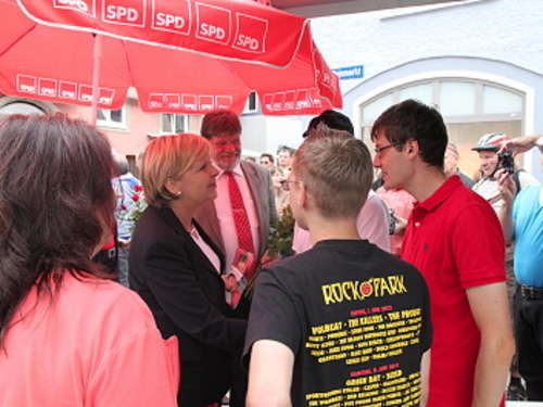 Hannelore Kraft in Memmingen