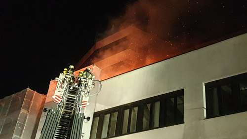Brand im Maxx-Forum in Memmingen